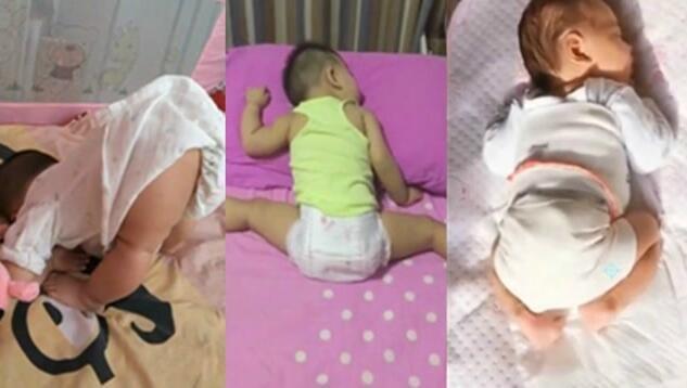 光看宝宝们的睡姿就知道将来必成大器啊