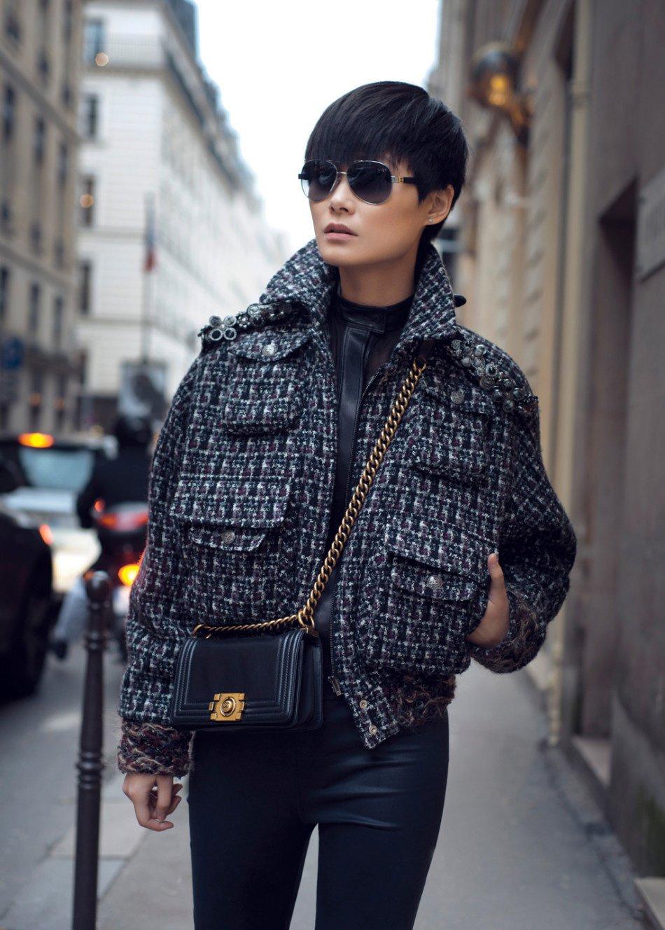 李宇春时尚街拍尽显气场