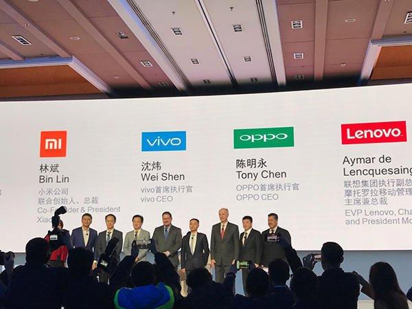 中国手机厂商OPPO、vivo、小米、中兴通讯力撑高通