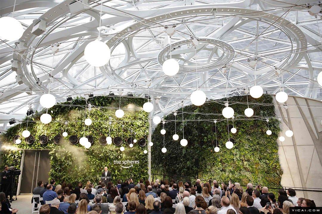 亚马逊新办公楼耗资40亿美元 到处都是绿色植被