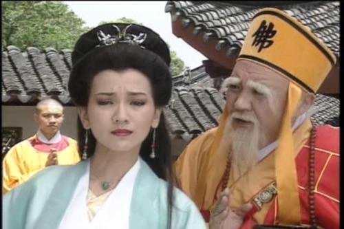 """乾德门在《新白娘子传奇》中塑造的经典""""法海""""形象。图片来源:《新白娘子传奇》剧照"""
