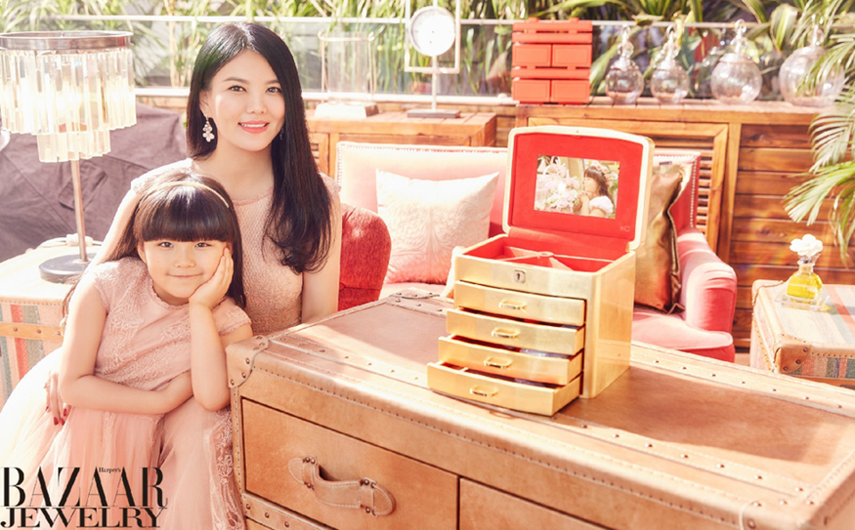 李湘与女儿王诗龄亲子写真照片
