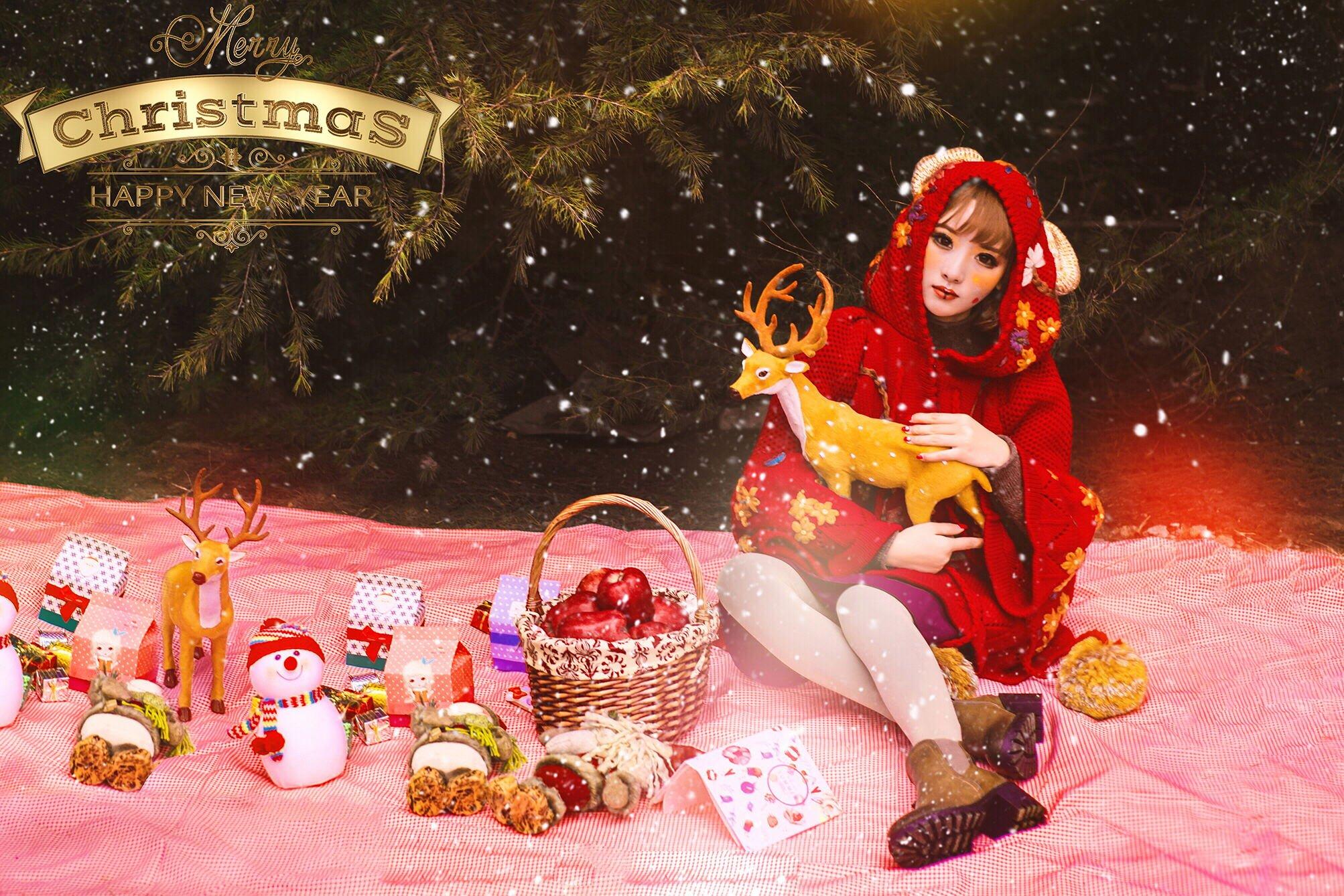 圣诞仙子仝爱爱甜美迷人
