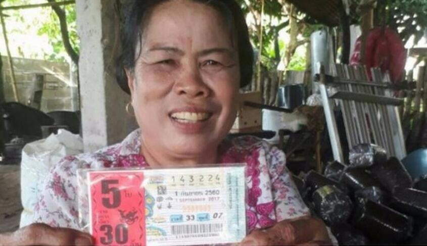泰国女子以为中大奖被孙女气的住院!