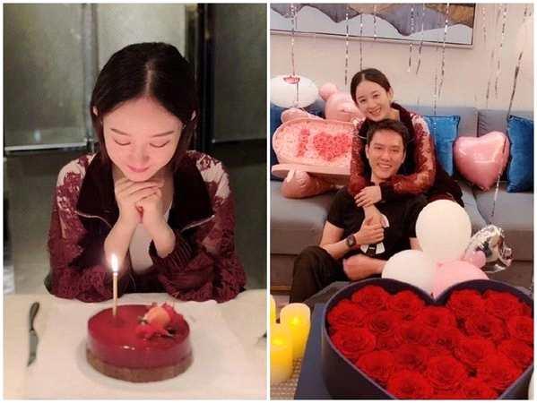 冯绍峰送赵丽颖31岁生日礼物:两束花价值不菲