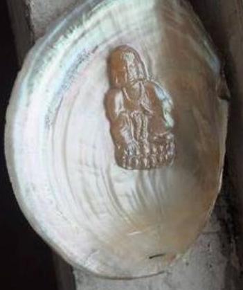 """女子捡河蚌,竟然发现壳内有""""佛像"""""""