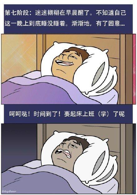 关于睡觉的几个阶段,全中