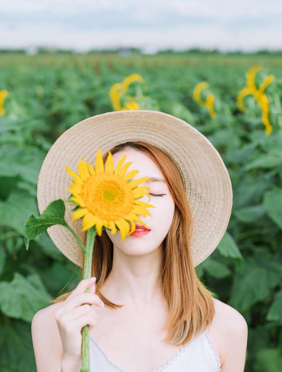 向日葵少女小清新爛漫可愛