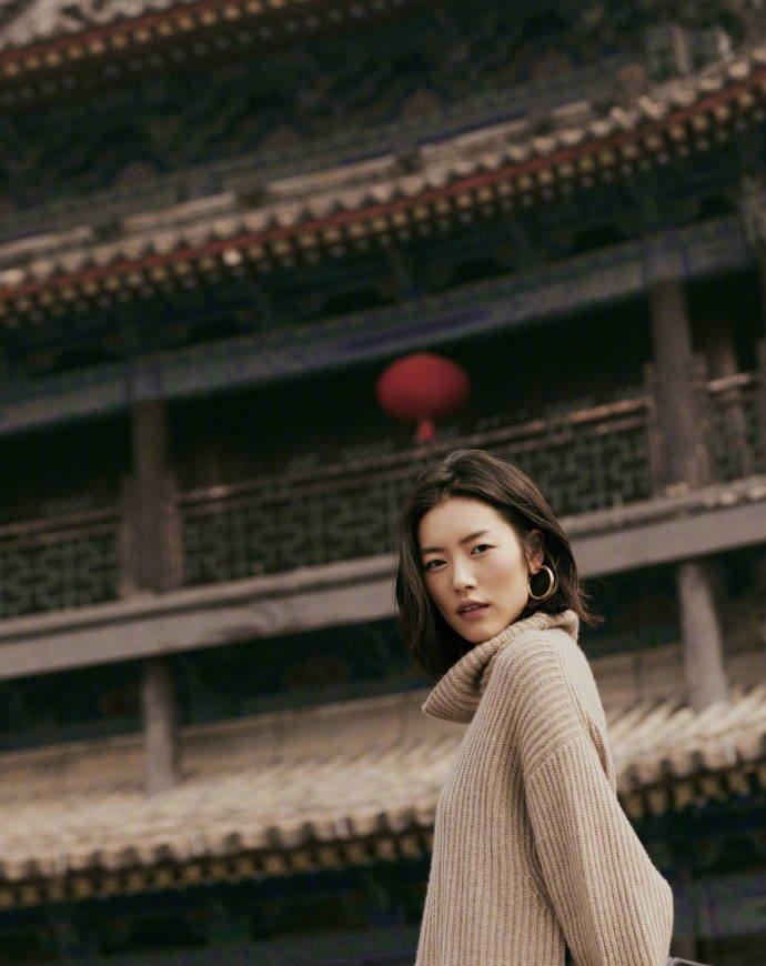刘雯秋日西安写真图片