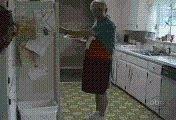 可把奶奶吓坏了