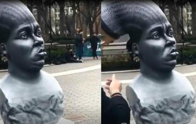 这样的雕像确实吸引眼球啊