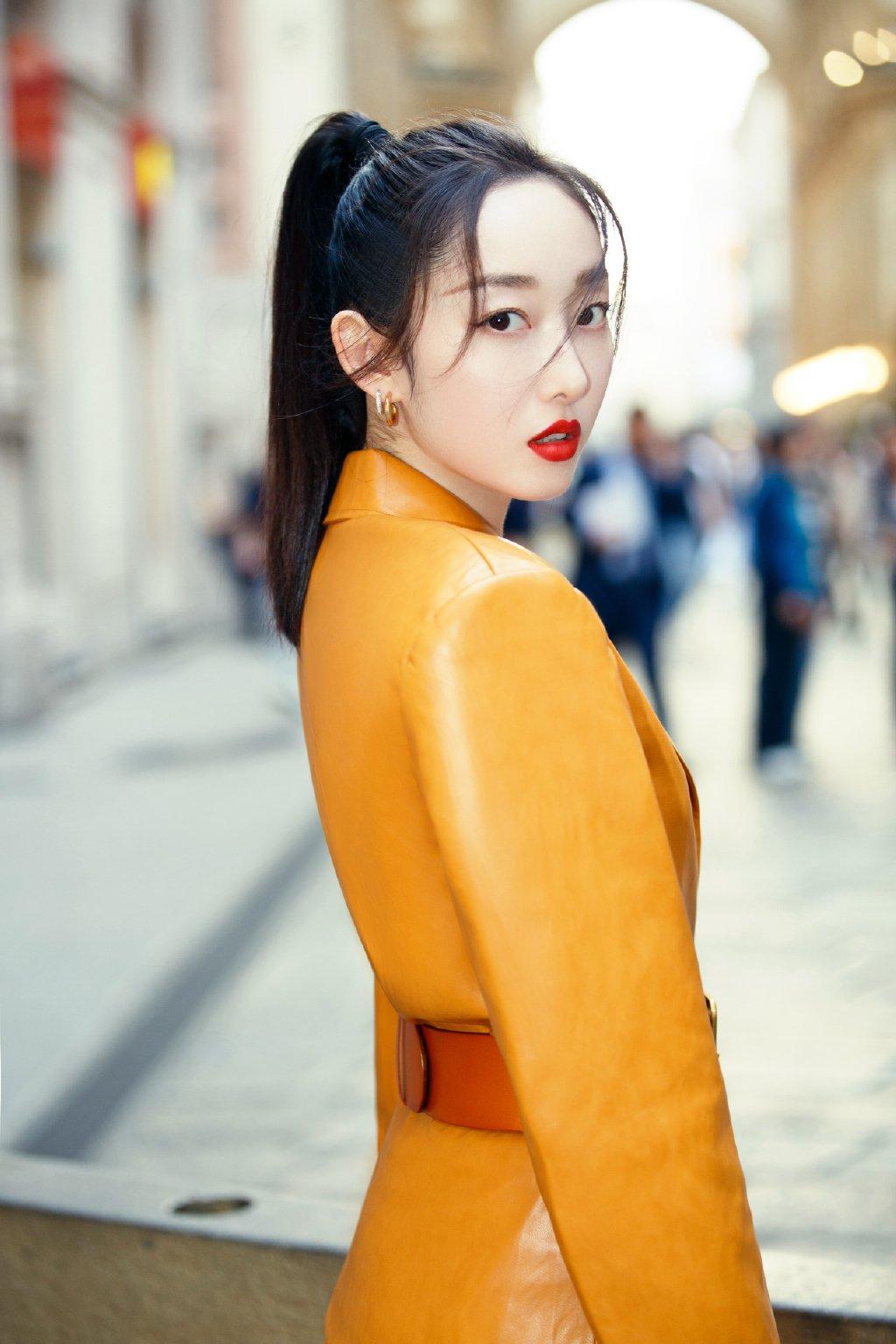 蒋梦婕米兰时装周性感图片