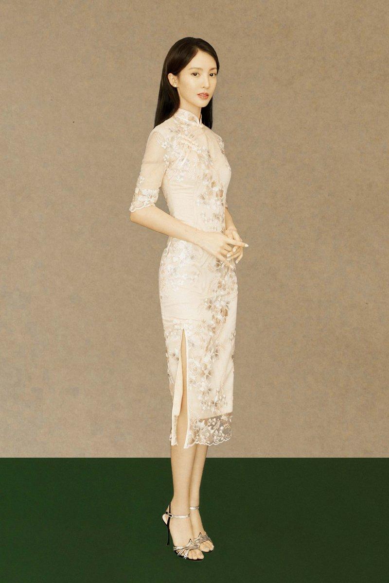 金晨跨界歌王古典旗袍写真图片