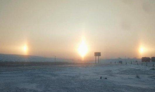 内蒙古现幻日奇观出现3个太阳,这样的奇观天象预示着什么呢?