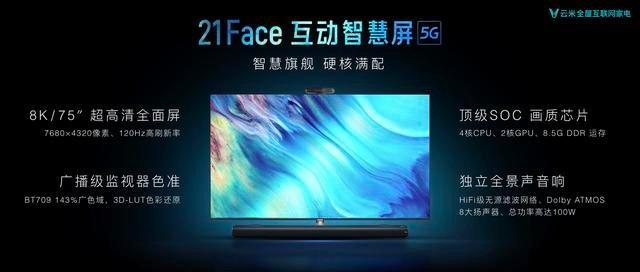 21Face互动智慧屏全球首发 云米实现全场景跨屏