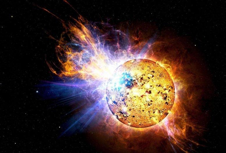 """新日本望远镜探测到附近恒星上巨大的""""超级闪光"""""""