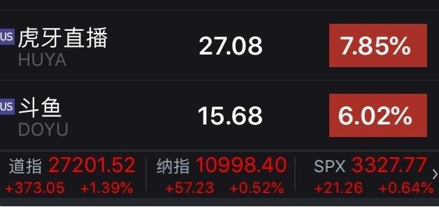 斗鱼虎牙合并股价上涨.jpg