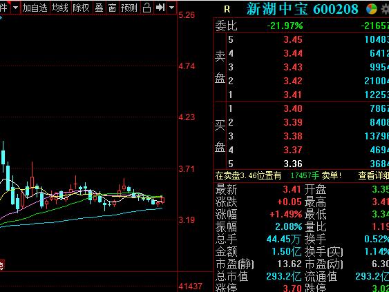 新湖中宝净利增35.17%