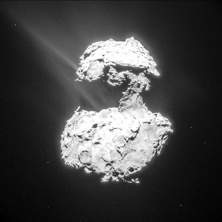 """丘利彗星上发现紫外线极光现象——""""产生的辉光是独一无二的"""""""