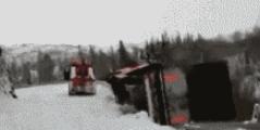 冬天开大车可一定小心呢