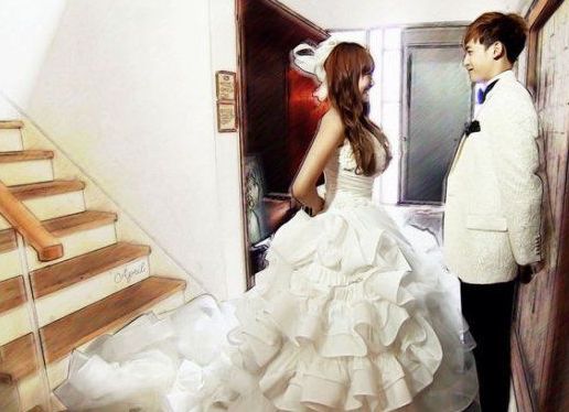 《我们结婚了》维尼夫妇婚纱照,两个人的近况竟然差别如此之大?