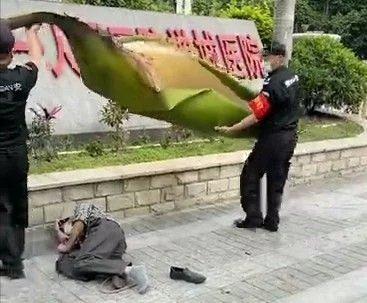 男子被一片树叶砸晕在地!网友们都震惊了......