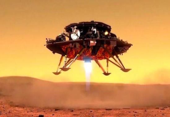 天问一号探测器稳稳着陆在火星乌托邦平原南部预选着陆区