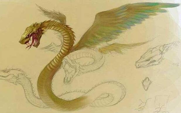 螣蛇 传说是女娲的坐骑