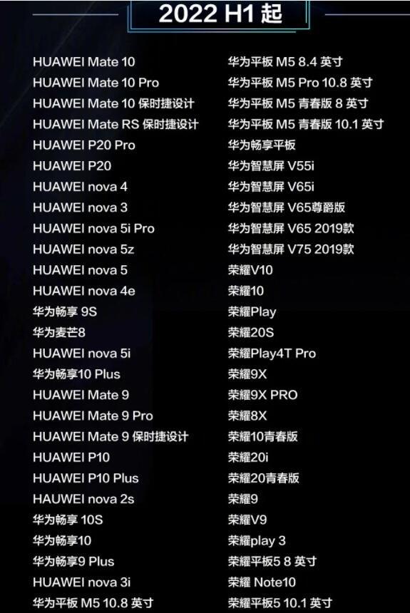 首批升级鸿蒙华为设备名单公布,不在鸿蒙更新名单怎么办