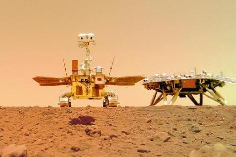 祝融号拍摄的火星照片来了火星长啥样,祝融号是谁造的,祝融号是怎么传回照片的