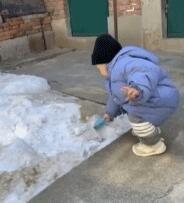 人类幼崽玩雪大赏