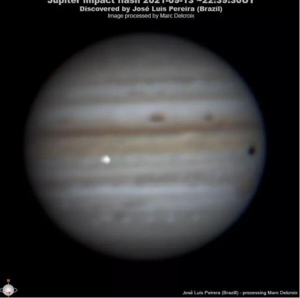 木星刚刚被一块太空岩石撞击,一位业余天文学家用相机拍下了它
