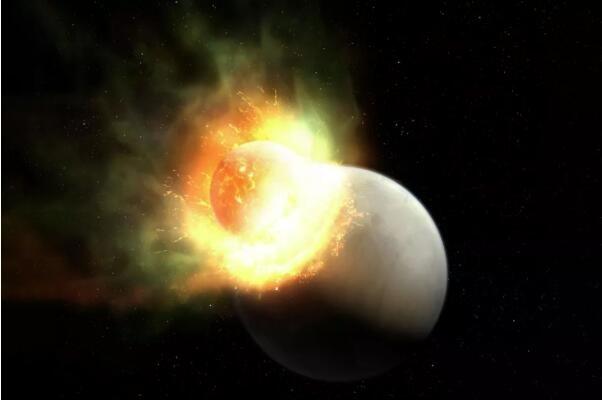 一颗外星行星因巨大撞击而失去大气层