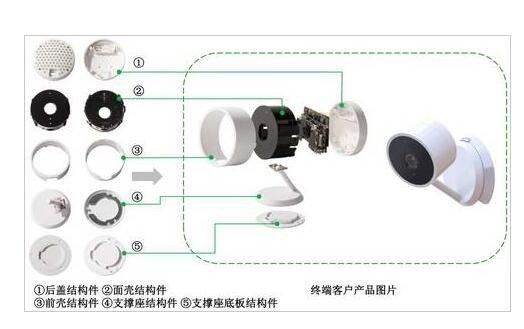 300968智能摄像头精密结构件